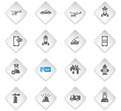 Emergency icon set. Emergency flat web icons for user interface design Royalty Free Stock Photos