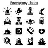 Emergency icon set. Illustration graphic design vector illustration