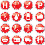 Emergency icon set Stock Photo