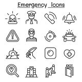 Emergency icon set in thin line style. Vector illustration graphic design royalty free illustration