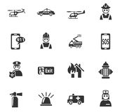 Emergency icon set. Emergency web icons for user interface design Royalty Free Stock Image
