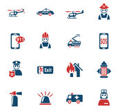 Emergency icon set. Emergency web icons for user interface design Stock Photo