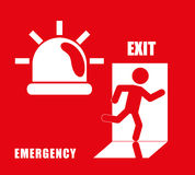 Emergency Icon, Vector illustration Royalty Free Stock Image