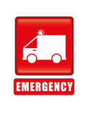 Emergency Icon, Vector illustration Stock Photography