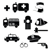 Emergency icons Royalty Free Stock Photos