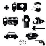 Emergency icons Royalty Free Stock Photos