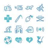 Emergency icons set Stock Image