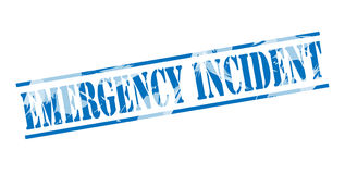 Emergency incident blue stamp. On white background Royalty Free Stock Photo