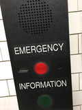 Emergency information sign Royalty Free Stock Photos