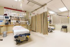 Emergency Intake. Area in a hospital Royalty Free Stock Images