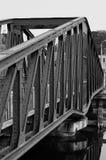 Emergency iron bridge from world war 2. Emergency iron bridge from war in Ghent, Belgium Stock Photo