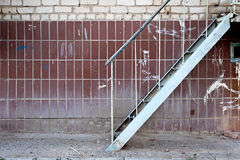 Emergency iron ladder building exterior a lot of Stock Photos