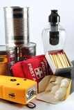 Emergency Kit. A group of items useful for an emergency/ survival kit Stock Photo