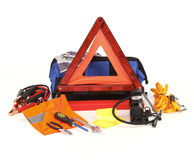 Emergency kit for car Stock Photo