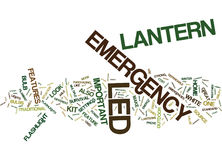 Emergency Led Lantern The Features That Make It Important For Homes Word Cloud Concept Stock Images