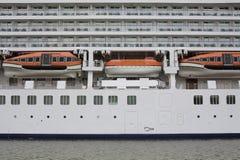 Emergency life boats stock image