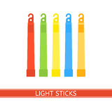 Emergency Light Stick. Vector icon. Survival glowing stick isolated on white background in flat style. Glowstick for camping, hiking, power outage and parties Stock Photo