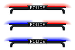 Emergency Lights. Blue and Red Police Car Siren Royalty Free Stock Image