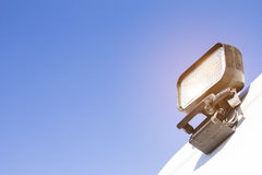 Emergency lights on the side of the ambulance Stock Photos