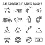 Emergency line icons. Mono vector symbols Royalty Free Stock Image