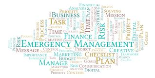 Emergency Management word cloud, made with text only. Emergency Management word cloud, made with text only royalty free illustration
