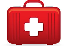 Emergency medical kit bag icon or symbol illustrat Royalty Free Stock Photos
