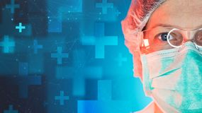 Emergency medicine specialist working in medical clinic hospital. Portrait of female healthcare professional royalty free stock images