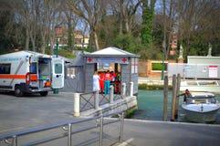 Emergency mooring,Venice Royalty Free Stock Photo