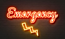 Emergency neon sign Royalty Free Stock Photography