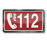 Emergency number 112 in case of fire. And rescue Stock Photo