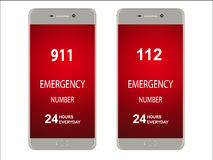 Emergency numbers Royalty Free Stock Images