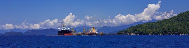 Emergency oil tanker, In the Brazilian area. royalty free stock photo