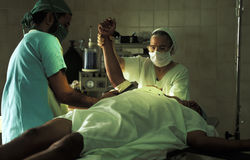 Emergency in operating theater, Brazil Stock Photography