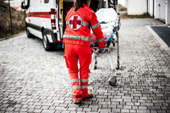 Emergency operator in action Royalty Free Stock Photos