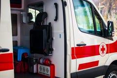 Emergency operators in action Stock Photo