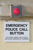 Emergency panic button Royalty Free Stock Photography