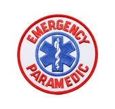 Emergency Paramedic Patch Royalty Free Stock Photography