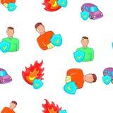Emergency pattern, cartoon style. Emergency pattern. Cartoon illustration of emergency vector pattern for web Stock Photo