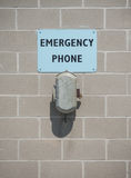 Emergency phone stock photography