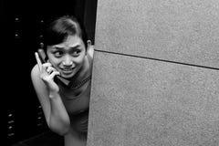 Emergency phone call Stock Image