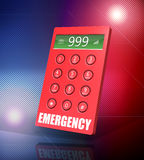 Emergency Phone. 3d render of an emergency keypad with abstract background Stock Photo
