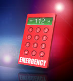 Emergency Phone. 3d render of an emergency keypad with abstract background Stock Photos