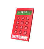 Emergency Phone. 3d render of an emergency keypad with abstract background vector illustration