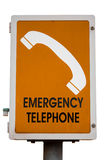 Emergency phone. Help road highway Stock Image