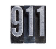 Emergency phone number 911 Royalty Free Stock Photos