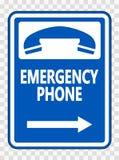Symbol Emergency Phone (Right Arrow) Sign on transparent background. Emergency Phone (Right Arrow) Sign on transparent background stock illustration