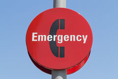 Emergency Phone Sign. A shot of an Emergency Phone Sign stock photos