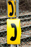 Emergency phone signs Royalty Free Stock Photos