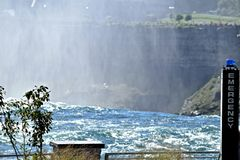 Emergency Points at Niagara Falls New York Stock Photos