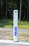 Emergency police caller Royalty Free Stock Photography